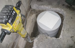 calgary sump pump intallation - in progress