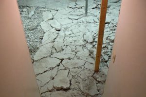 concrete floor replacement calgary - cracked concrete floor