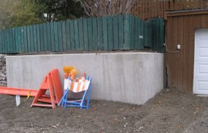 concrete retaining wall replacement calgary - concrete wall after photo