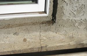 foundation crack repair calgary - basement windowsill foundation crack