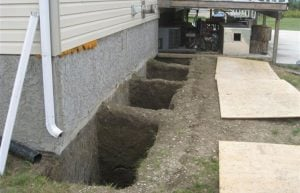helical pile installations calgary - underpinning helical piles