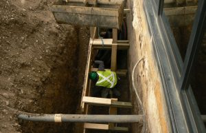 industrial foundation calgary repair - installation in progress